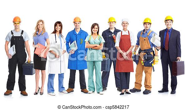 工人, 人們 - csp5842217