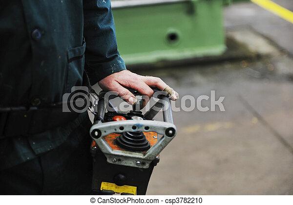工人, 工廠, 人們 - csp3782210