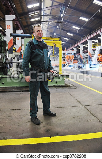 工人, 工廠, 人們 - csp3782208