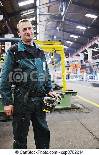 工人, 工廠, 人們 - csp3782214