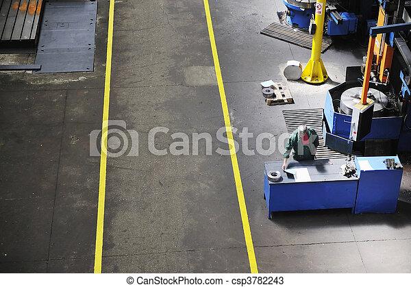 工人, 工廠, 人們 - csp3782243