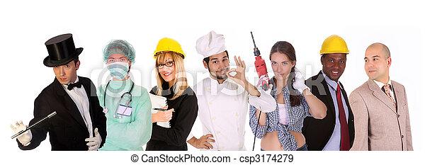 工人, 差异, 人們 - csp3174279
