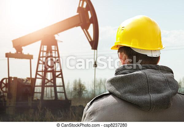 工人, 油 - csp8237280