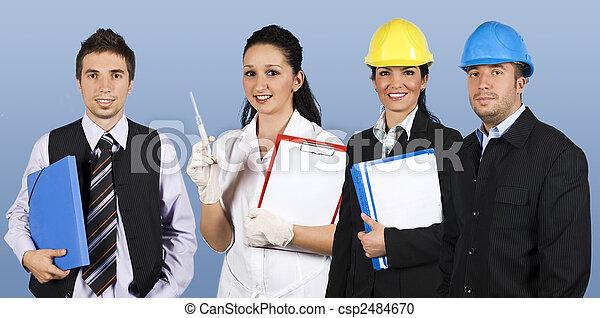 工人, 組, 人們 - csp2484670