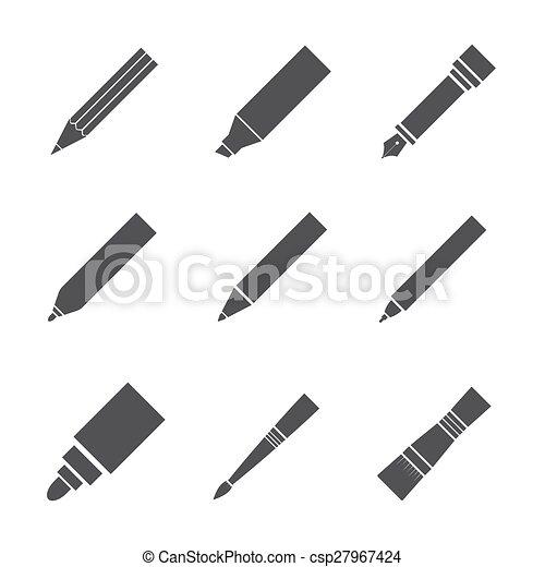 工具, 作品, 图, 图标 - csp27967424