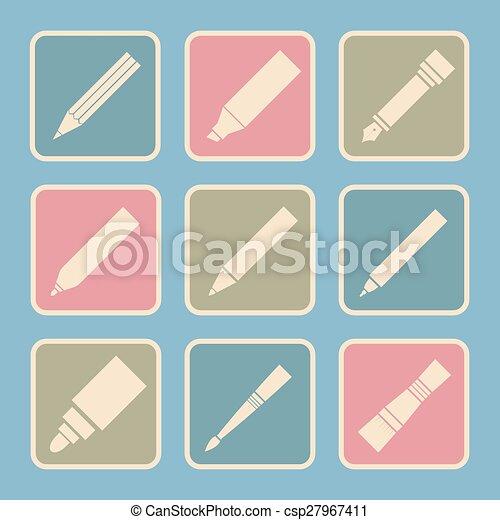 工具, 作品, 图, 图标 - csp27967411