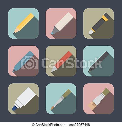 工具, 作品, 图, 图标 - csp27967448
