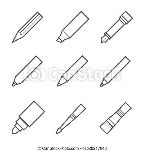 工具, 作品, 图, 图标 - csp28217040
