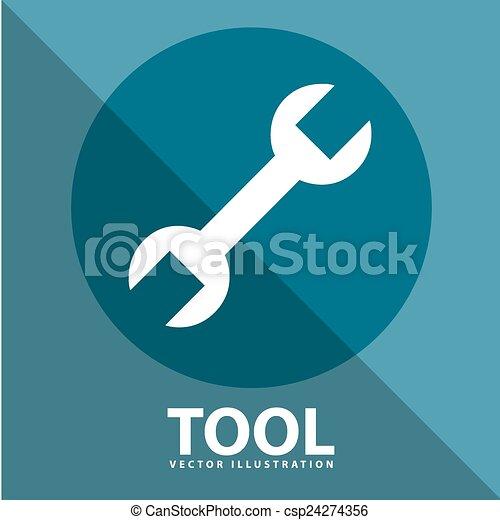 工具, 图标 - csp24274356