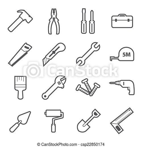 工具, 图标 - csp22850174
