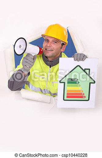 工匠, 消費, 能量, 標簽, 談話, 透過, 藏品, 擴音器 - csp10440228