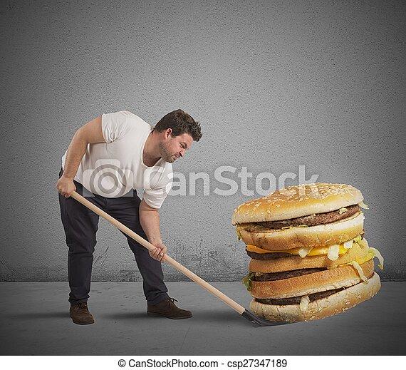 巨人, リフト, サンドイッチ - csp27347189