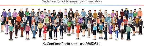 巨大, 人群, 人們 - csp36950514