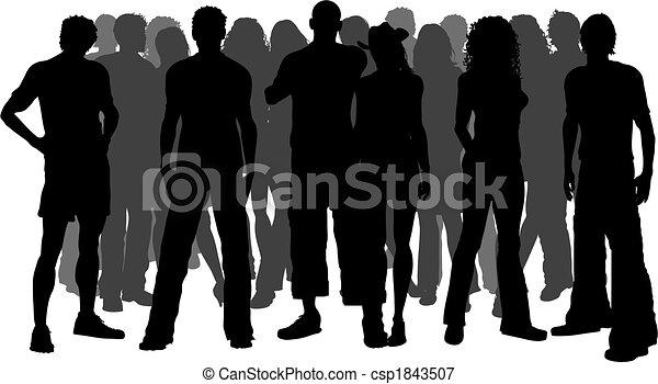 巨大, 人群, 人們 - csp1843507