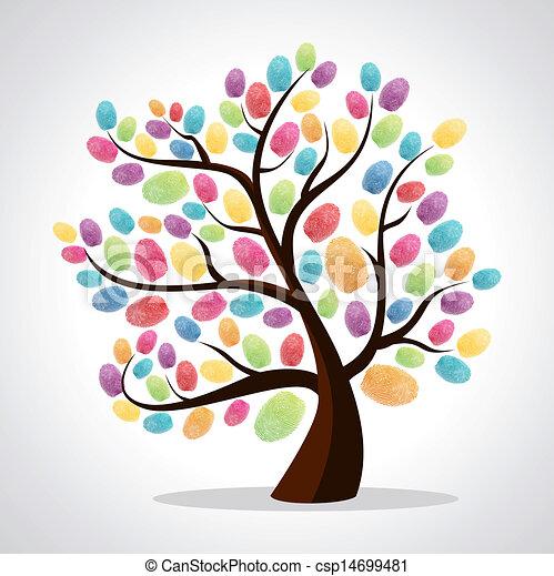 打印, 矢量, 差异, 文件, coloring., 颜色, 树, 描述, 风俗, 背景.