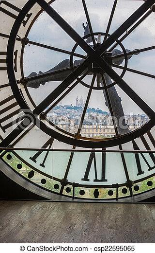 巴黎, 鐘, orsay 博物館 - csp22595065