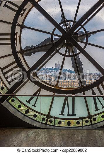 巴黎, 鐘, orsay 博物館 - csp22889002