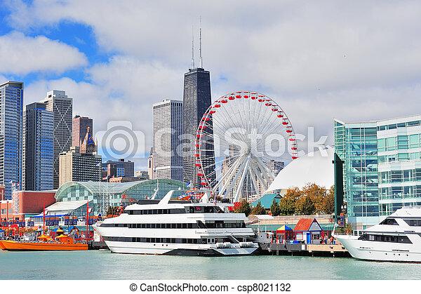 市區, 城市, 芝加哥 - csp8021132