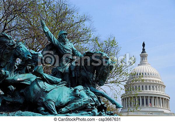 市民, 記念, ワシントン, 戦争, dc - csp3667631
