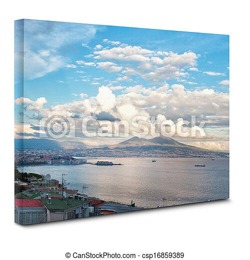 帆布, 看法, 那不勒斯, 海灣 - csp16859389