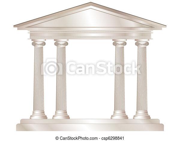 希腊人, 寺庙 - csp6298841