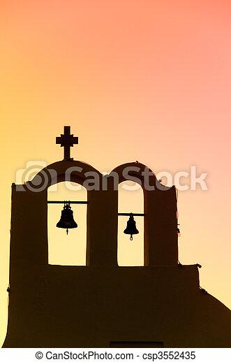 希腊的教堂 - csp3552435