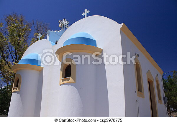 希腊的教堂 - csp3978775