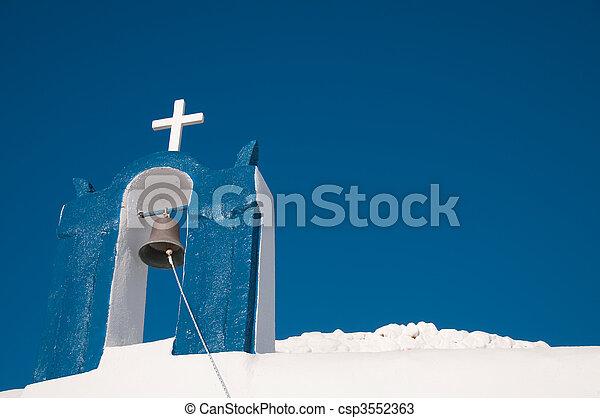 希腊的教堂 - csp3552363