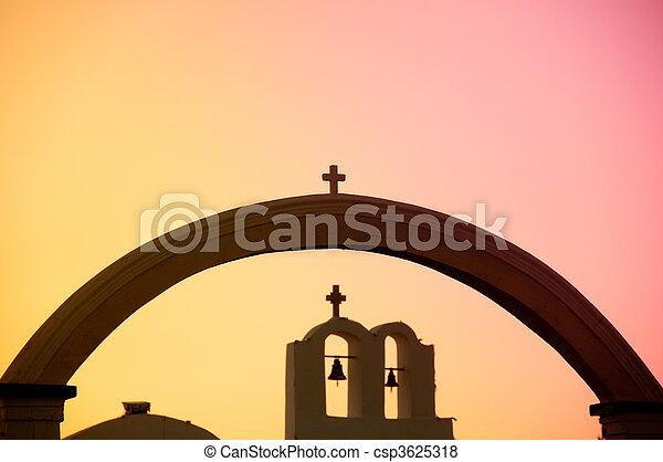 希腊的教堂 - csp3625318