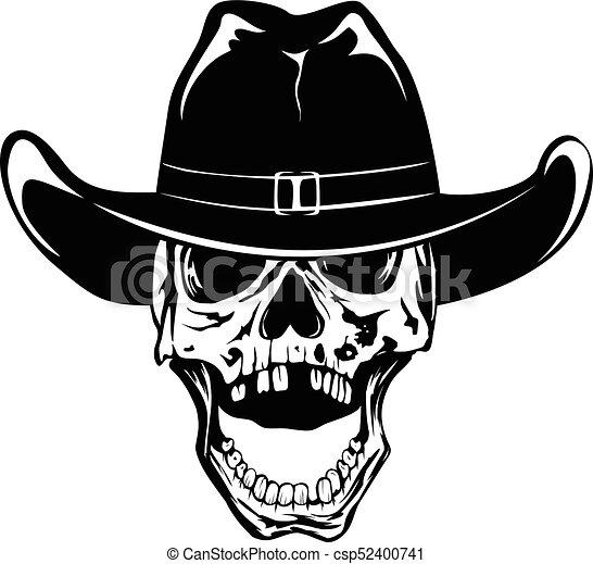 帽子, カウボーイ, 2, var, 頭骨 - csp52400741