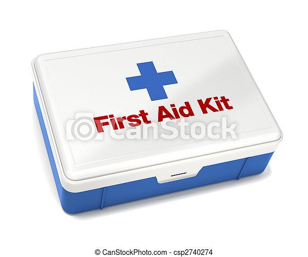 幫助, 白色, 首先, 被隔离, 成套用具 - csp2740274