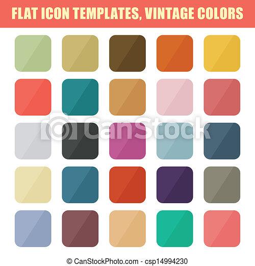 平ら, セット, 型, app, ベクトル, backgrounds., palette., テンプレート, アイコン - csp14994230