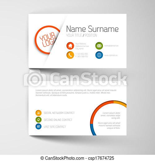平ら, ビジネス, 現代, ユーザー, テンプレート, インターフェイス, カード - csp17674725