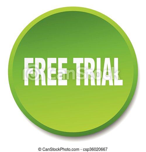 平ら, ボタン, 隔離された, 無料で, 裁判, 緑, 押し, ラウンド - csp36020667