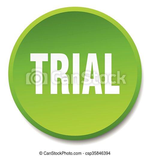平ら, ボタン, 隔離された, 裁判, 緑, 押し, ラウンド - csp35846394