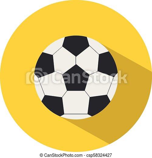 平ら, 学校, ボール, illustration., concept., フットボール, スポーツ, ベクトル, style., アイコン - csp58324427