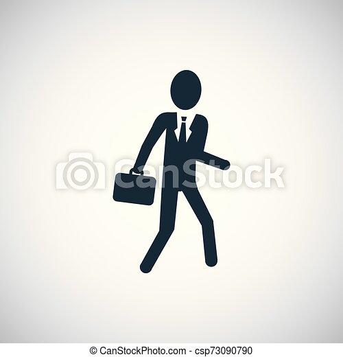 平ら, 概念, 単純である, 要素, デザイン, ビジネスマン, アイコン - csp73090790