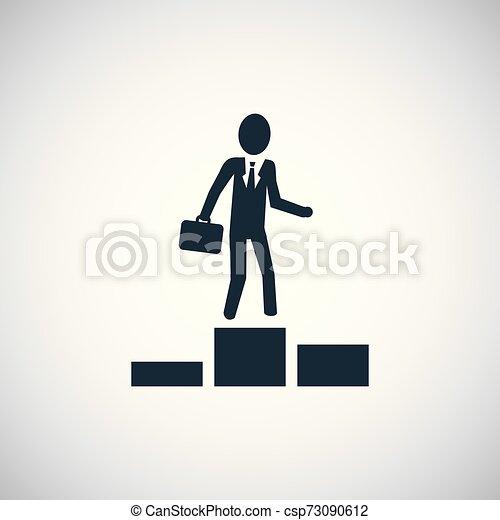 平ら, 概念, 単純である, 要素, デザイン, ビジネスマン, icon. - csp73090612