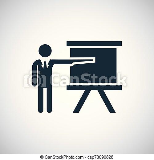 平ら, 概念, 単純である, 要素, デザイン, 教師, アイコン - csp73090828