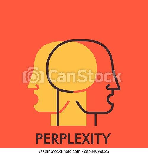 平ら, elements., concept., perplexity., デザイン, 線, アイコン, icon., design. - csp34099026