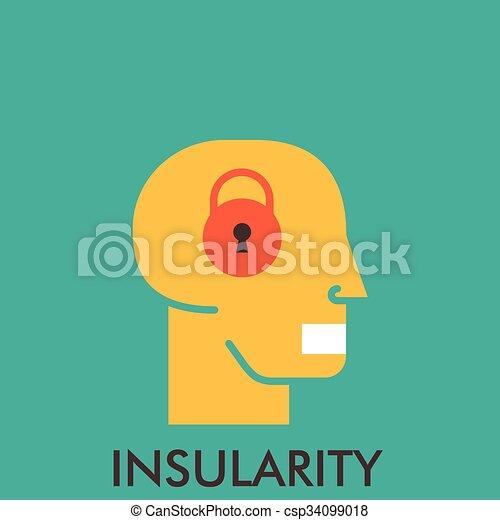平ら, mouse., elements., insularity., concept., lock., デザイン, 終わり, 線, アイコン, icon., secretive., design. - csp34099018