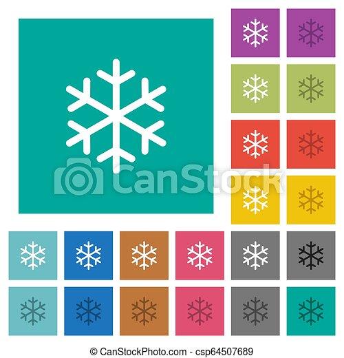 平ら, multi, 広場, 有色人種, アイコン, 単一, 雪片 - csp64507689