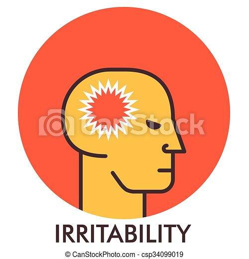 平ら, thorn., elements., irritability., concept., デザイン, 線, アイコン, icon., design. - csp34099019