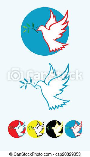 平和, 鳩 - csp20329353