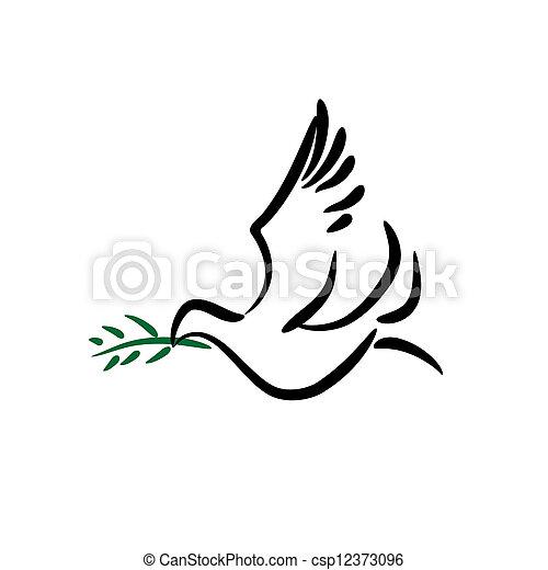 平和, 鳩 - csp12373096