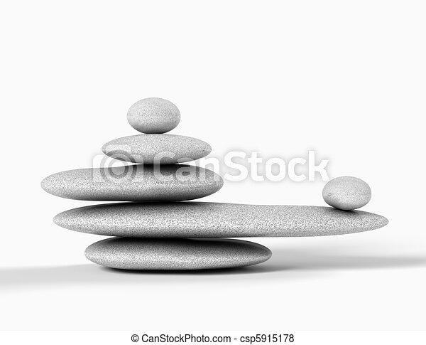 平衡, 石頭, 灰色 - csp5915178