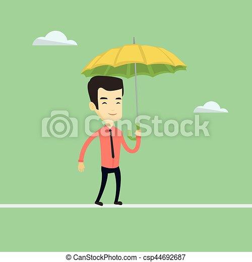 平衡, tightrope., 商人 - csp44692687