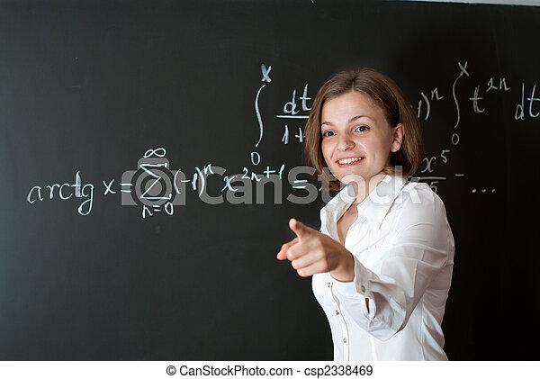 年輕, 老師 - csp2338469