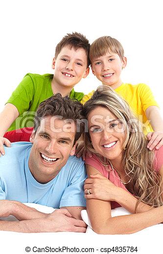 幸せな家族 - csp4835784