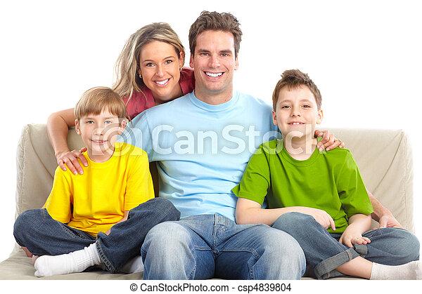 幸せな家族 - csp4839804